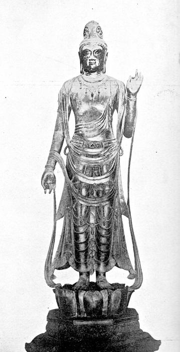 稿本帝国日本美術史収録~薬師寺東院堂・聖観音像