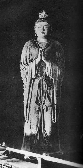 稿本帝国日本美術史収録~東大寺法華堂・月光菩薩像