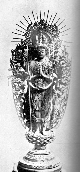 稿本帝国日本美術史収録~長命寺・千手観音像