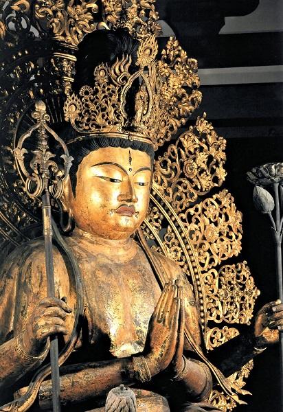 興福寺南円堂・不空羂索観音像(康慶作)