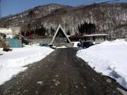 003道に雪が無い土合駅