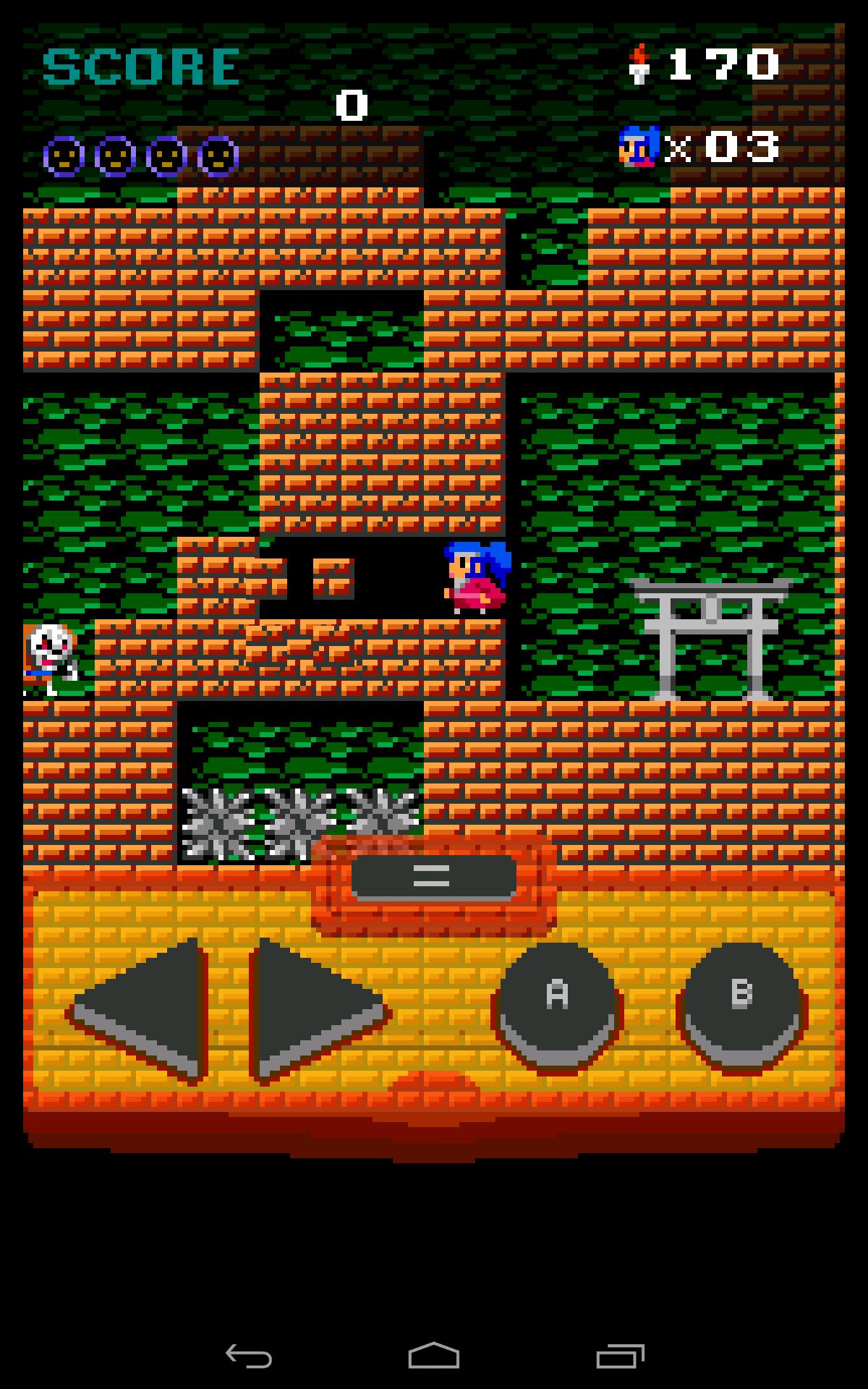 シノビちゃんゲーム画面