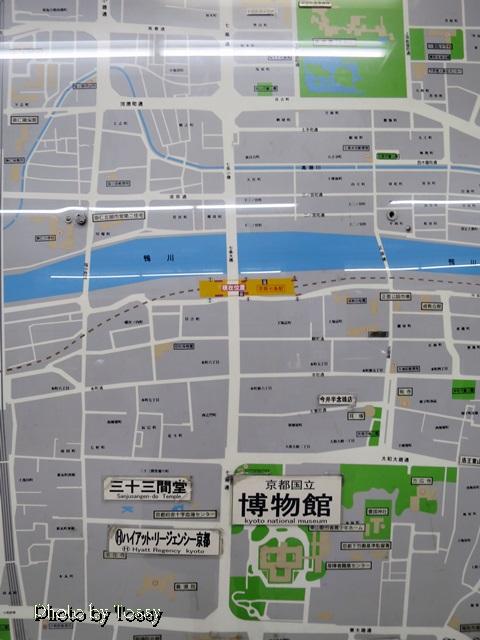 MAP 七条駅付近
