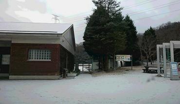 高速パーキングの雪