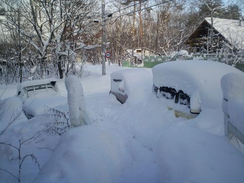 H28.1.20雪事務所前