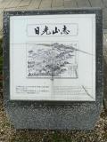 東武日光駅 日光山志石碑