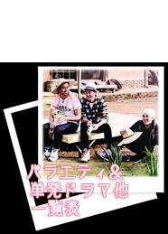 2015バラェティ&単発ドラマ一覧