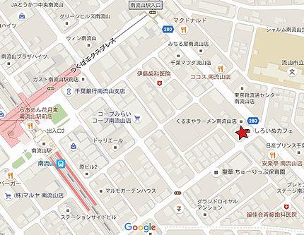 しろいぬカフェ地図