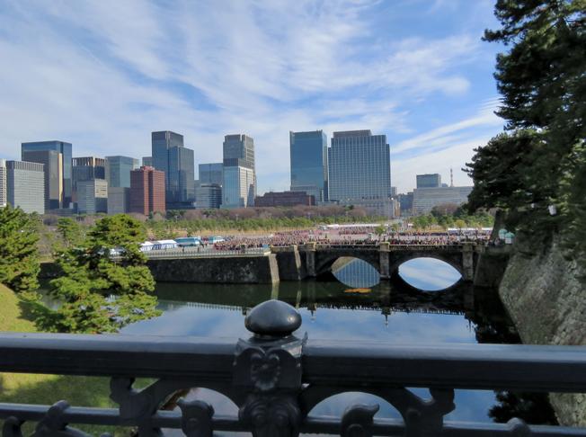 都会を眺める