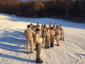 スキーキャンプ朝礼