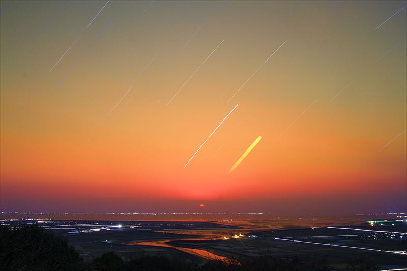 星と朝日_R