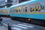 京阪京津線すれ違い中