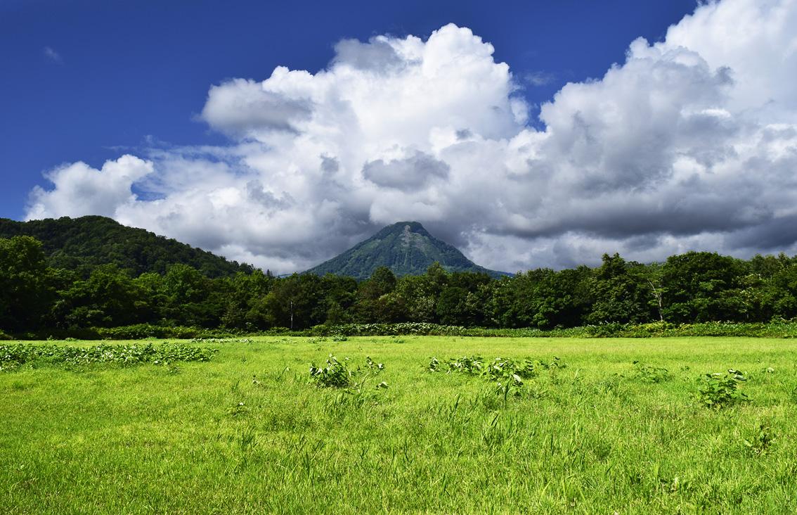 浜益富士にかかる雲