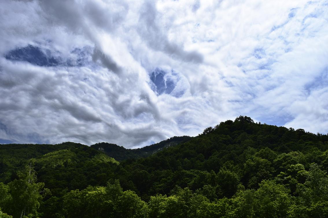 メープル街道の雲2