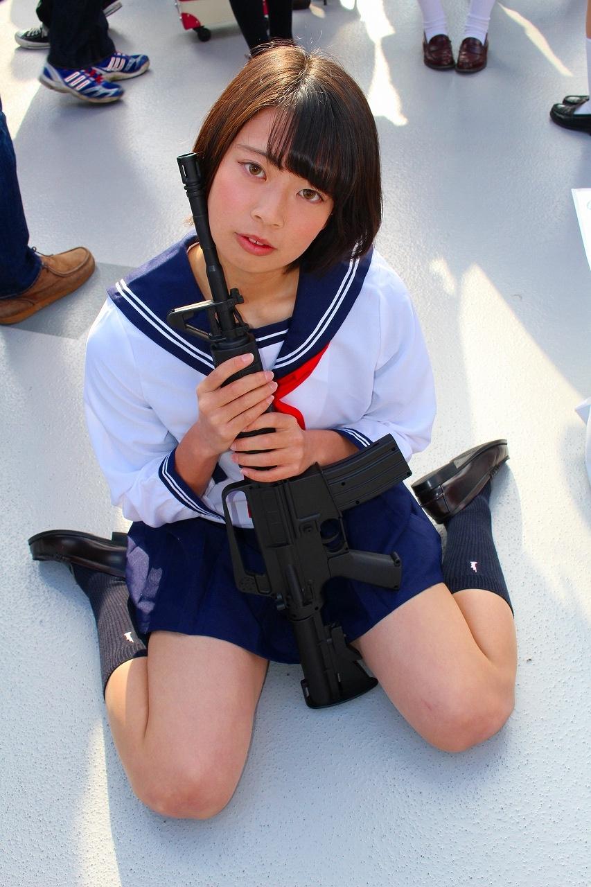 星泉 セーラー服と機関銃 コミケ C89 コスプレ 03[