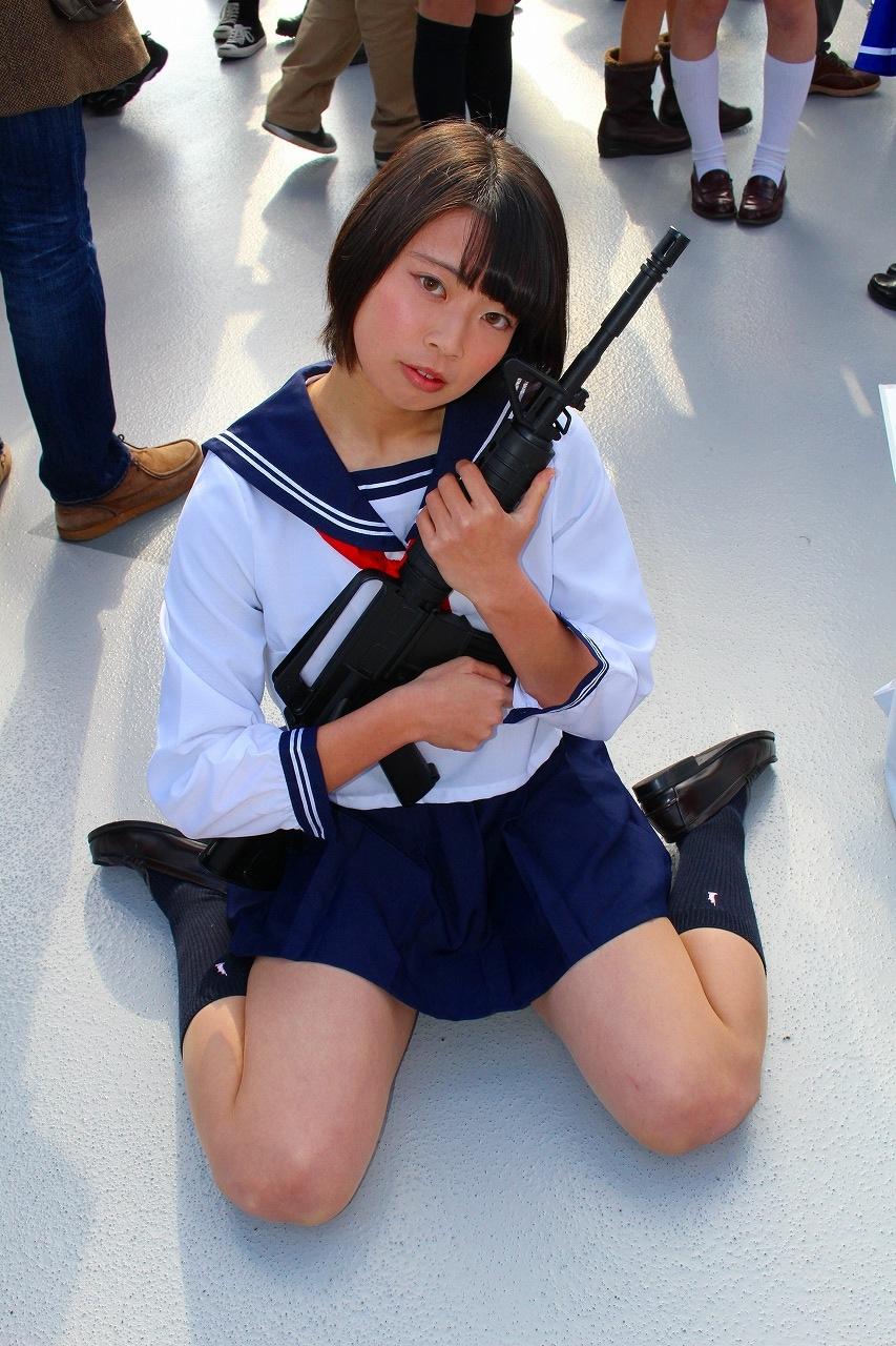 星泉 セーラー服と機関銃 コミケ C89 コスプレ 04