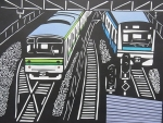 東神奈川駅切り絵