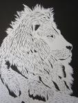 ライオン切り絵