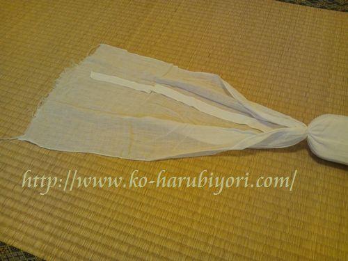20160309帯枕(お紐とガーゼ)