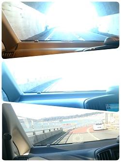 トンネルの出口は海の景色