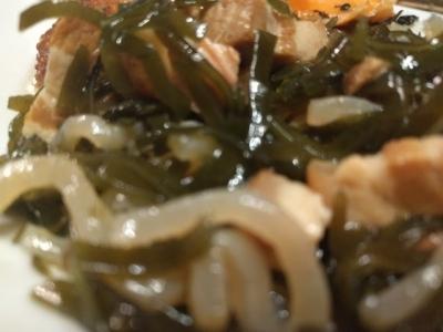 沖縄料理 昆布炒め、クーブイリチャー