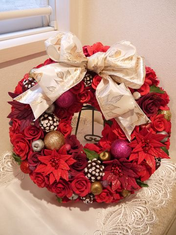 RI様クリスマスリース1