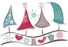 クリスマスを愛らしく表現した背景 lovely christmas background vector graphic イラスト素材1