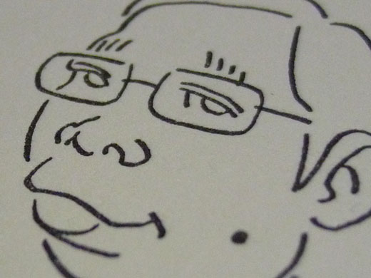 自画像似顔絵活版名刺サンプル3