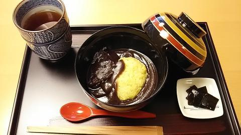 二條若狭屋粟ぜんざい (1)