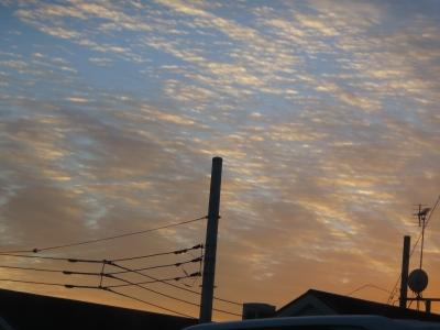 1月27にtの夕焼け