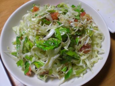 キャベツ・セロリのサラダ