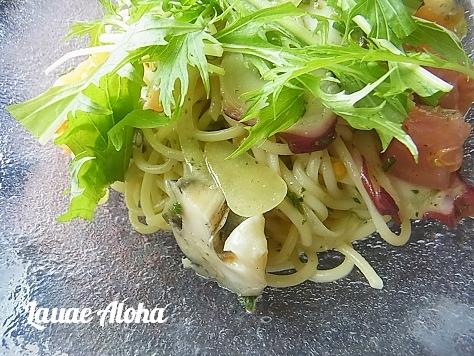 ツブ貝とトマトの冷製スパゲティ