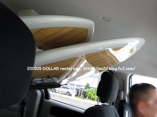 201505 ハワイでレンタカー ※SUP中積みの様子(ボードサイズと車種)