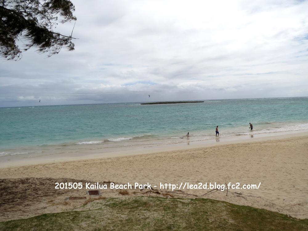 2015年5月渡ハのカイルアの海(Kailua Beach Park)
