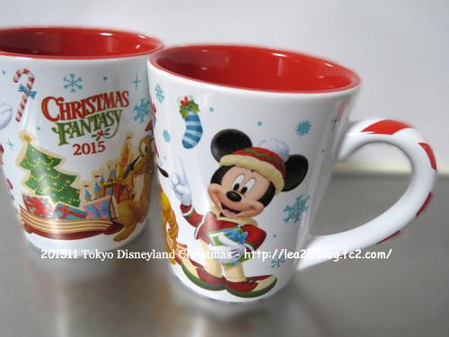 2015年 東京ディズニーランド その3 クリスマス限定グッズを買う。スーベニアカップ