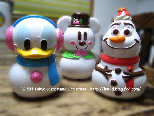 2015年 東京ディズニーランド クリスマス限定 カプセルトイ(ミッキー・オラフ・ダッグ)ガチャガチャ