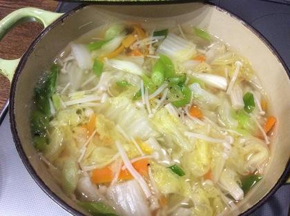 白菜とえのきのトロトロスープ