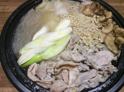 豚肉とキノコのお鍋