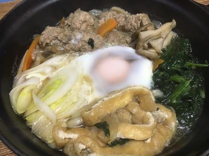 肉団子鍋焼きうどん