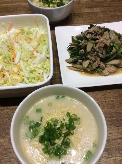 マルちゃん正麺豚骨味の夕食