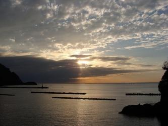 松崎の夕景