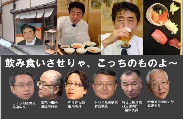 【ベタベタ】安倍総理またもや大手マスコミ