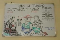 観光列車のタイムテーブル