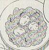 アボカドと玉子のスパゲッティ図