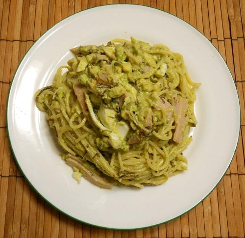 アボカドと玉子のスパゲッティ5