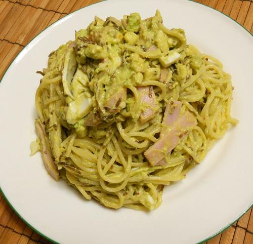 アボカドと玉子のスパゲッティ6 - コピー