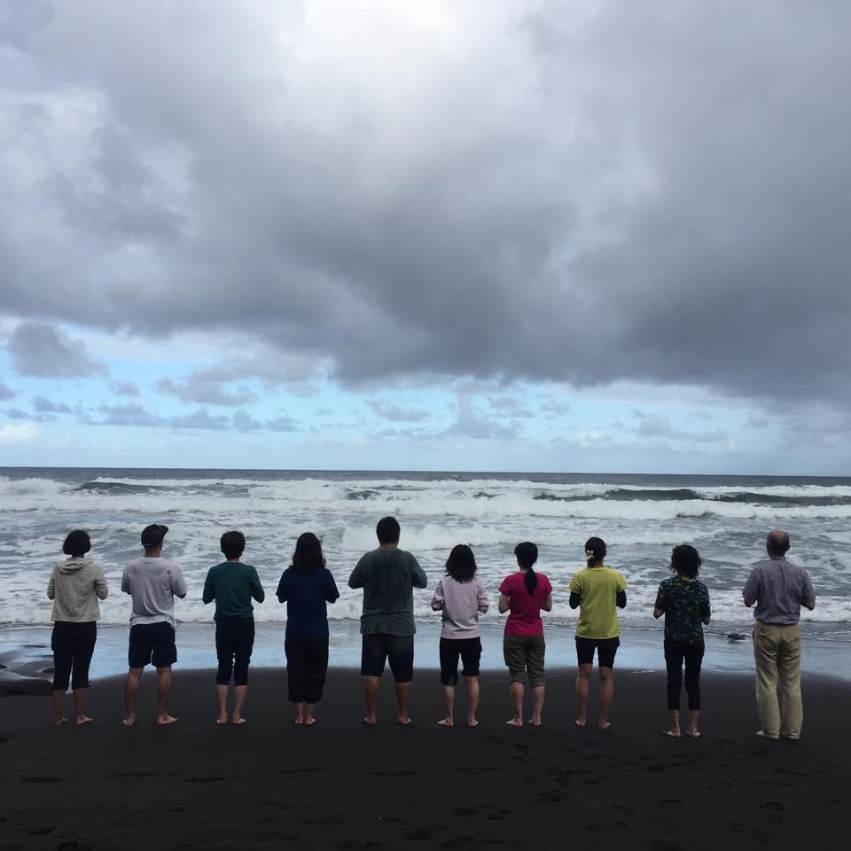 ハワイ島ポロル渓谷にて