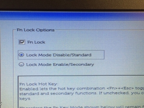 DELL ノートPC(Latitude E7250)のファンクションキーを使う時、Fnキーを押さないといけない。。不便!