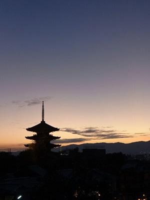 八坂の塔夕景1511