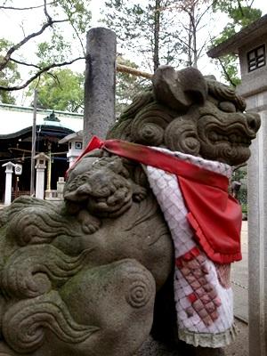 守居神社親子狛犬1512